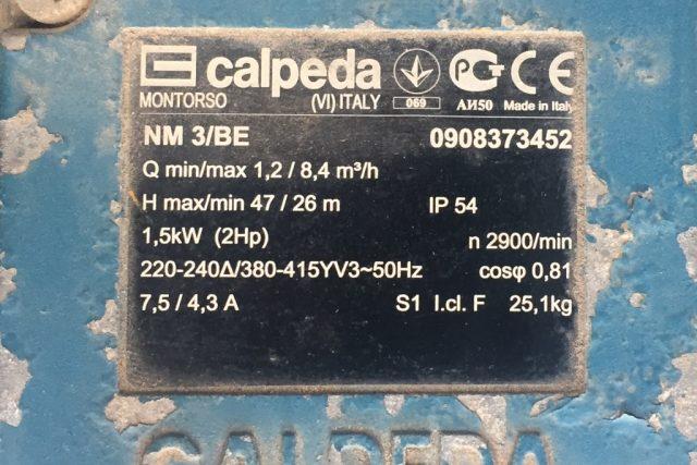 משאבת מים CALPEDA NM 3/BE