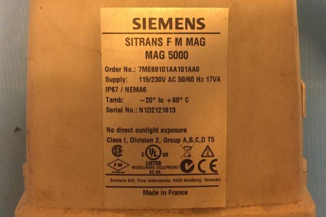 מד ספיקה בקר SIEMENS MAG 5000