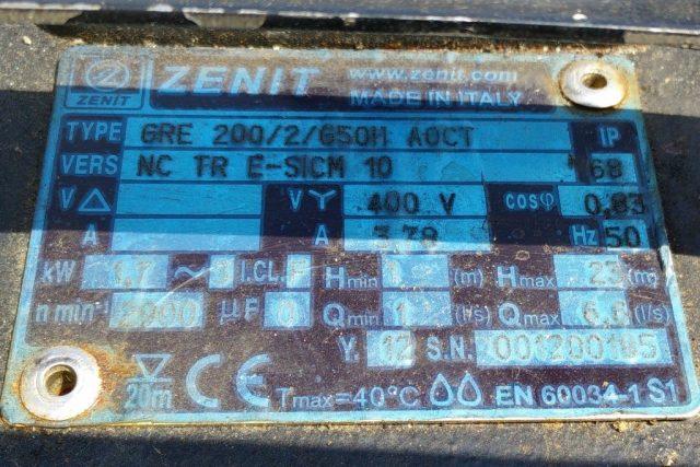 משאבה טבולה GRE 200/2/G50H